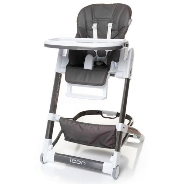 4BABY ICON barošanas krēsliņš – GREY