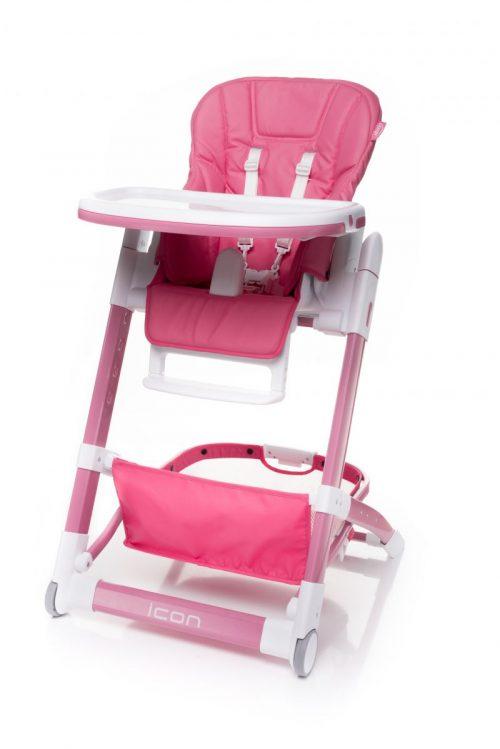 4BABY ICON barošanas krēsliņš PINK
