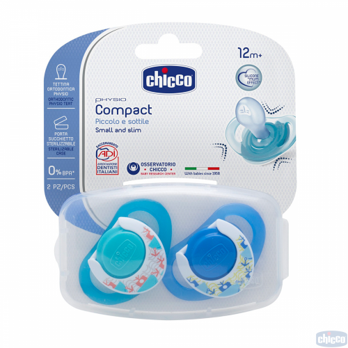 CHICCO PHYSIO COMPACT MĀNEKLIS 0-6M, ZILS
