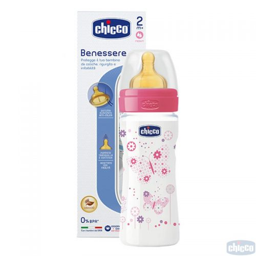 CHICCO WELL BEING PUDELĪTE 250ML (ROZĀ)