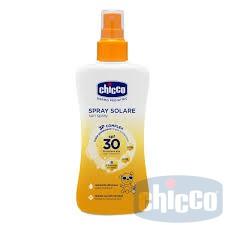 CHICCO sauļošanās pieniņš sprejs SPF30 150