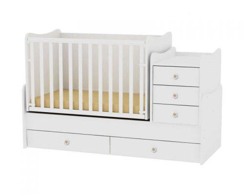 LORELLI MAXI PLUS bērnu gulta 70x160cm – WHITE