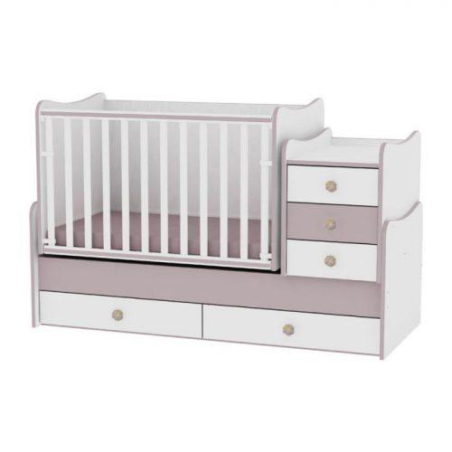 LORELLI MAXI PLUS bērnu gulta 70x160cm – WHITE&CAPPUCCINO