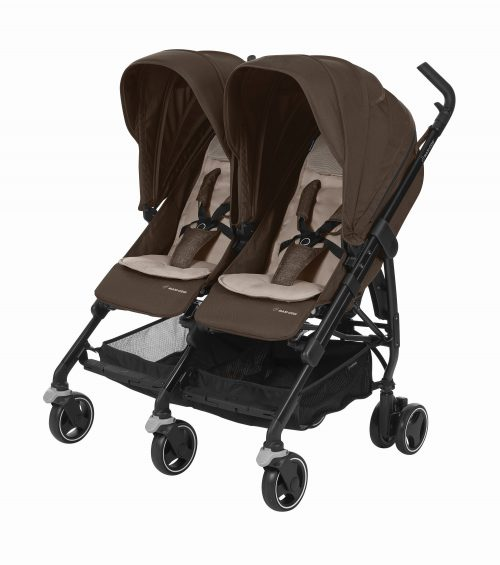 Maxi-Cosi DANA For2 bērnu ratiņi,nomad brown