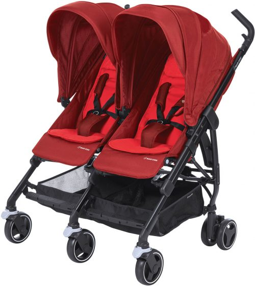 Maxi-Cosi DANA For2 bērnu ratiņi,vivid red
