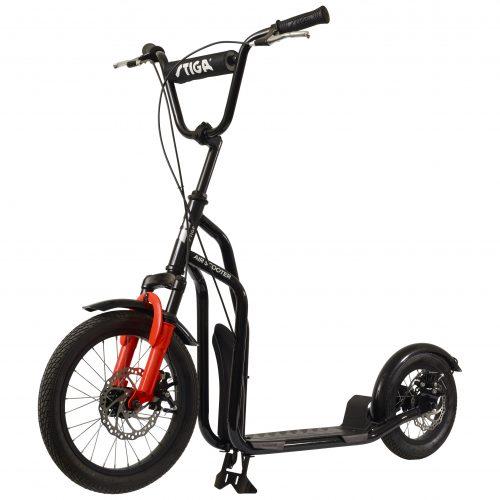 STIGA Skūteris Air  Scooter 16″ SA melns/sarkans