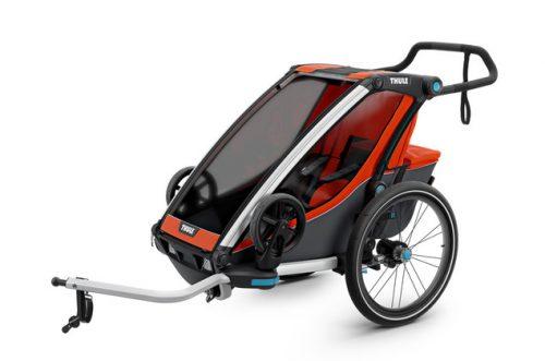 Bērnu rati – velo piekabe Thule Chariot Cross1, Roarange