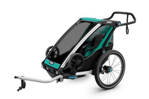Bērnu rati – velo piekabe Thule Chariot Lite1, Bluegrass