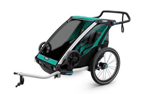 Bērnu rati – velo piekabe Thule Chariot Lite2, Bluegrass