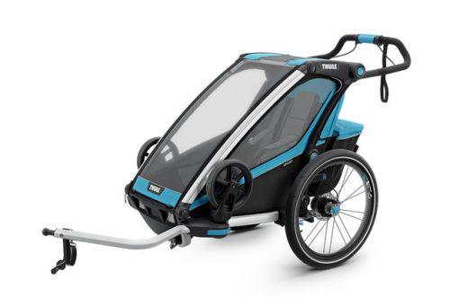 Bērnu rati – velo piekabe Thule Chariot Sport1, Blue