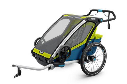 Bērnu rati – velo piekabe Thule Chariot Sport2 Chartreuse
