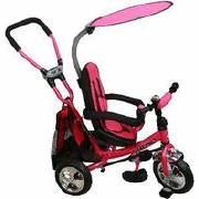 Bērnu trīsritenis SAFARI 360 WS-611 – PINK