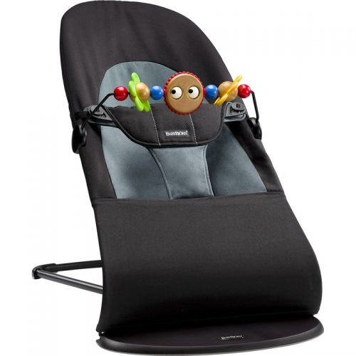 BABYBJORN Šūpuļkrēsls Balance soft + koka rotaļlieta 605011A  komplekts