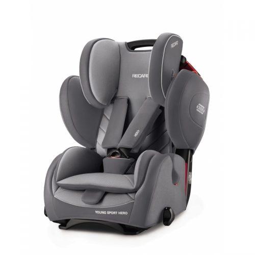 RECARO autokrēsls Young Sport Hero Aluminium Grey 9-36kg