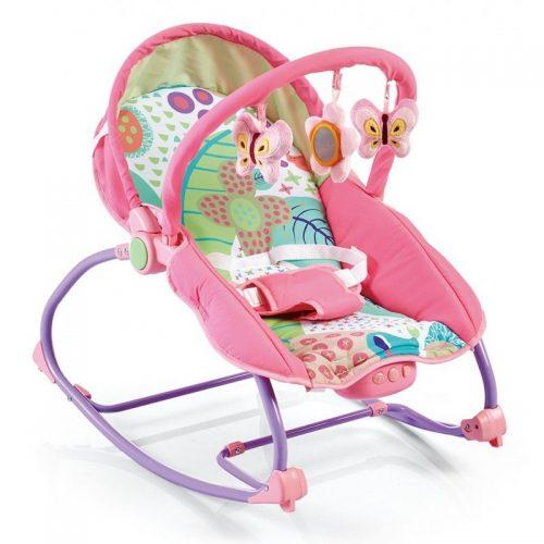BABY MIX Šūpuļkrēsliņš, LCP-BR212-18 rozā