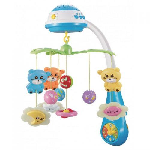 BABY MIX Muzikālais karuselis ar plastmasas mantiņām 408930 zils