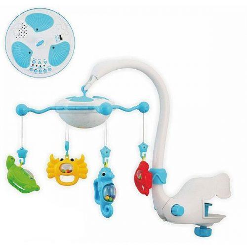 Baby Mix karuselis ar mantām 9001 blue 6 melodijas