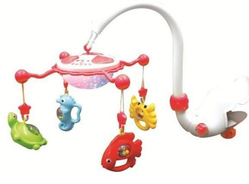 Baby Mix karuselis ar mantām 9001 red 6 melodijas