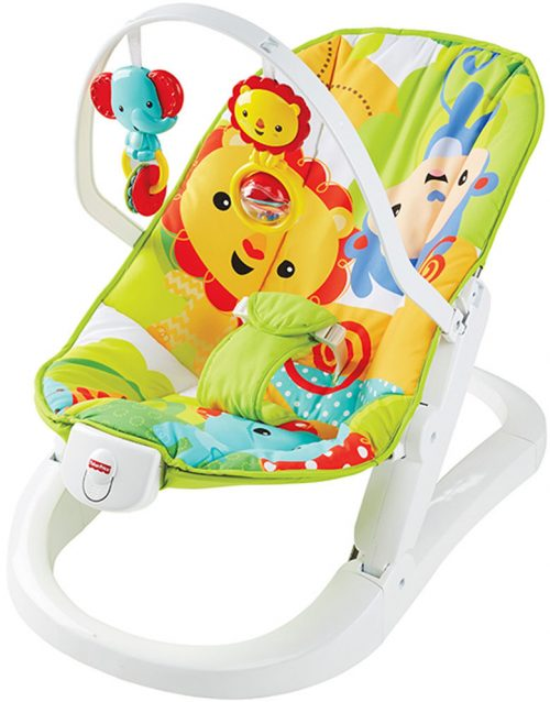 FISHER PRICE krēsliņš RAINFOREST FRIENDS FUN & FOLD