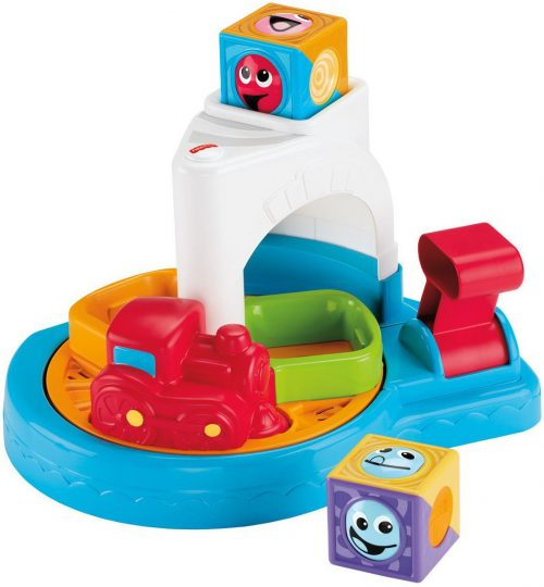 FISHER PRICE ROLLER BLOCKS WHIRLING TRAIN TOWN