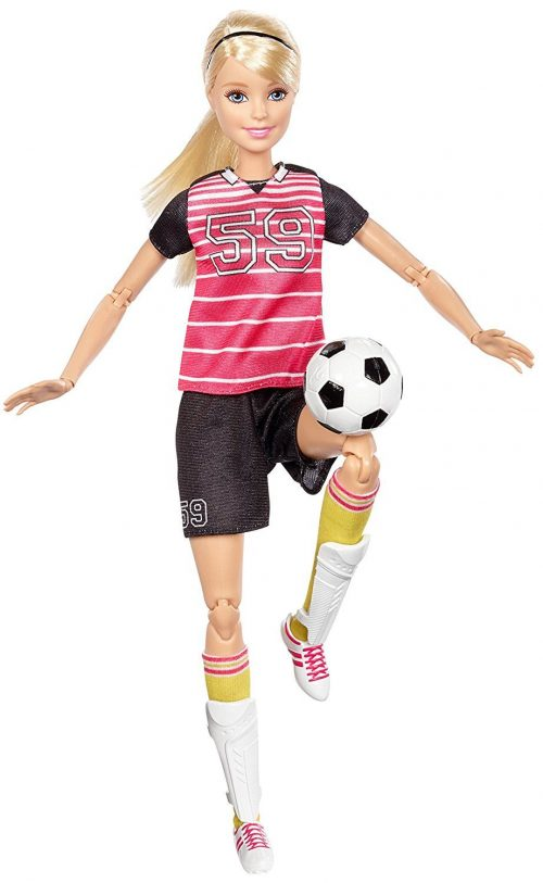 MATTEL BARBIE lelle futboliste MADE TO MOVE SOCCER PLAYER