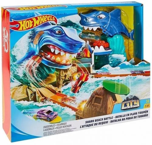 MATTEL HOT WHEELS auto trase CITY SHARK BEACH BATTLE