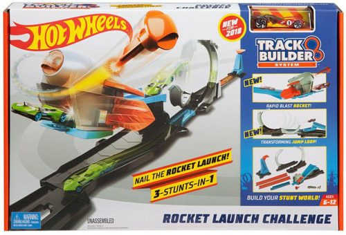 MATTEL HOT WHEELS trase TRACK BUILDER ROCKET