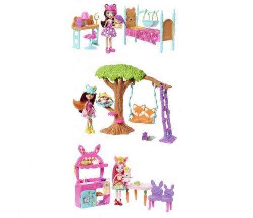MATTEL lelles Enchantimals Felicity Fox and Flick Playground Adventures