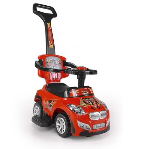 MILLY MALLY HAPPY Bērnu stumjamā mašīna, RED