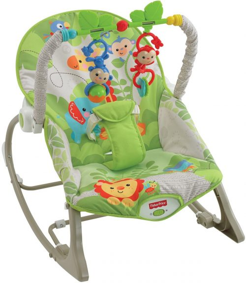 Fisher Price šūpuļkrēsls Rainforest Friends Infant-to-Toddler