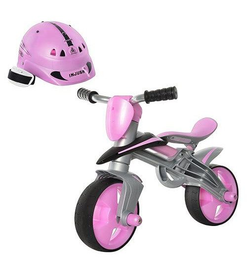 INJUSA Balansēšanas velosipēds ar ķiveri (rozā) 24m+