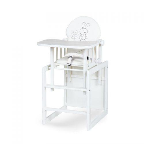 KLUPS AGA III SAFARI BUNNY barošanas krēsls – transformers, ecru