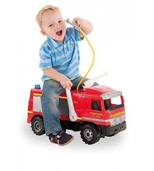 LENA Liela ugunsdzēsēju mašīna  MAXI ar ūdens pumpi, slodze 100kg (kastē) L02058