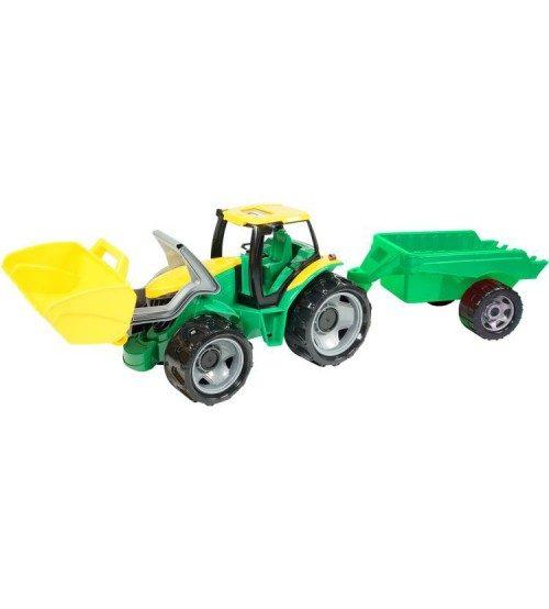 LENA Traktors L02123 ar piekabi un kausu (kastē)