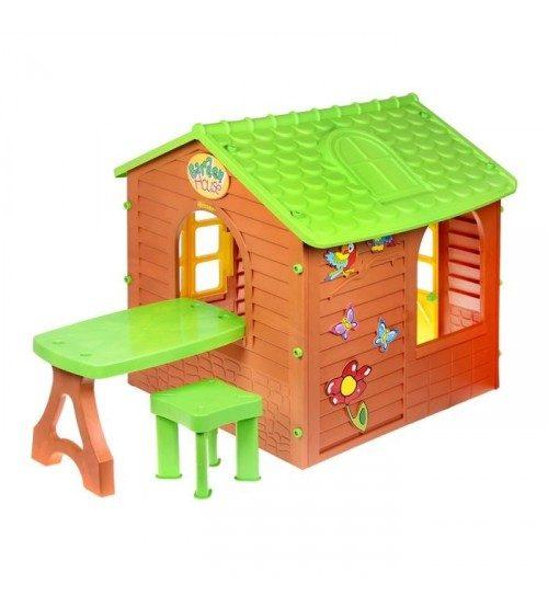 Mochtoys Dārza mājiņa  jautrām rotaļām bērniem *11045* 1.22×1.8×1.2