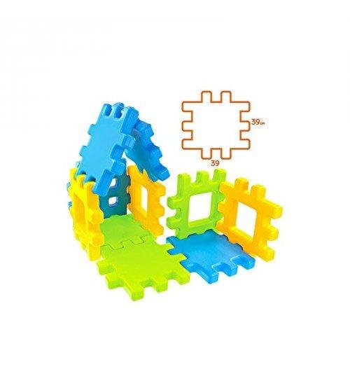 Mochtoys Konstruktors bērniem Mega kluči 20 elementi 39×39 cm( vecums 12mēn +)