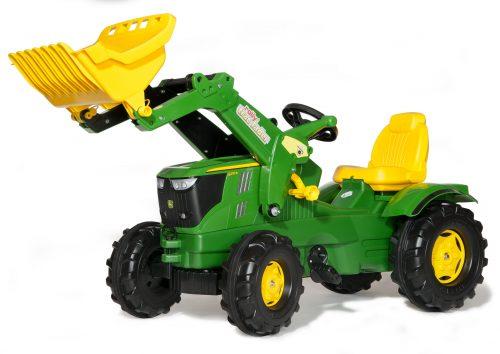 Rolly Toys Traktors ar pedāļiem ar kausu rollyFarmtrac John Deere 6210R (3 – 8 gadiem ) Vācija 611096