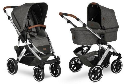 ABC Design bērnu rati 2in1 DIAMOND collection Salsa 4 air asphalt