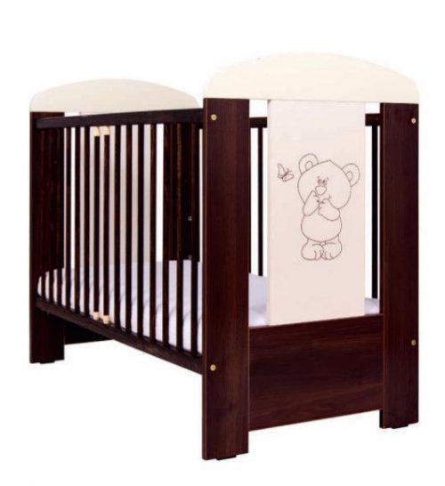 DREWEX BEAR with BUTTERFLY bērnu gulta 120×60, riekstkoks-ecru