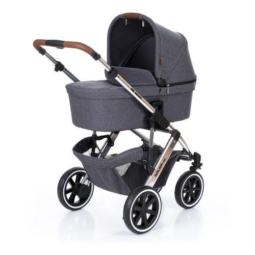 Dāvanā kāju pārsegs! ABC Design bērnu rati 2in1 DIAMOND collection Salsa 4 air asphalt (2020)