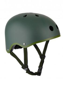"""Bērnu ķivere """" Micro Helmet"""" pelēka ar zaļu maliņu"""