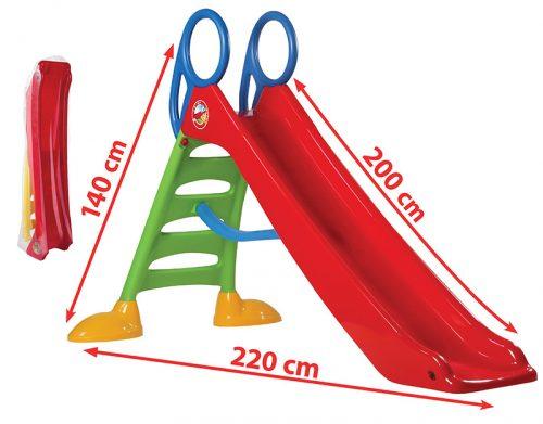 Bērnu slidkalniņš DOLPHIN (slīdvirsma 200 cm) max slodze 50 kg