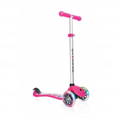 skrejritenis Globber Primo Fantasy – rozā (spīdoši riteņi)