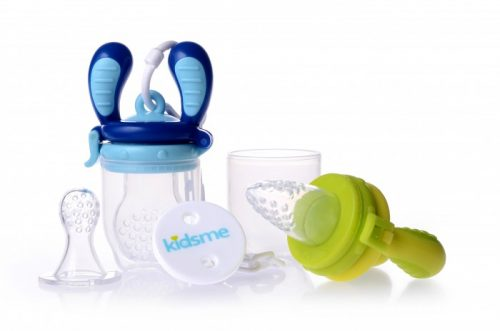 KIDSME FOOD FEEDER STARTER PACK KOMPLEKTS, LIME/AQUAMARINE