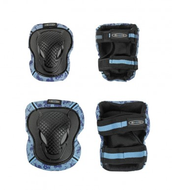 """aizsargu komplekts """" Micro knee""""  ar zilu maliņu"""