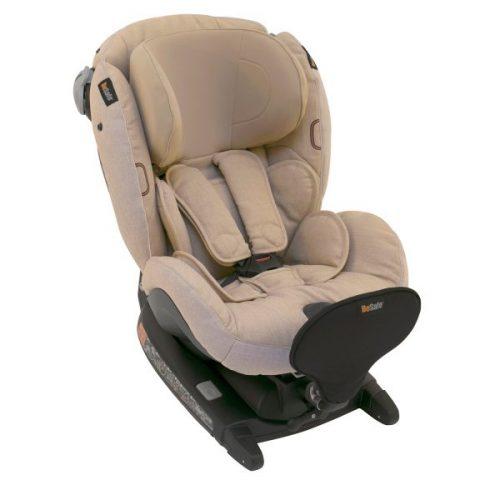 BeSafe autokrēsliņš  iZi Combi X4, pret braukšanas virzienā: 0-18kg, braukšanas virzienā 9-18 kg Ivory Melange