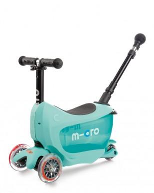 Skrejritenis Micro Mini2Go Deluxe Plus gaiši zils