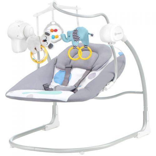 Šūpuļkrēsls KinderKraft'18 Minky Mint