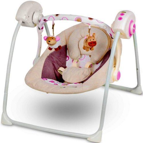 Šūpuļkrēsls / šūpoles KinderKraft Easy Swing Pink