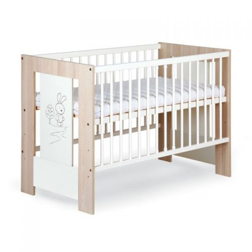 Bērnu gulta 120x60cm KLUPS SAFARI RABBIT , ecru/osis